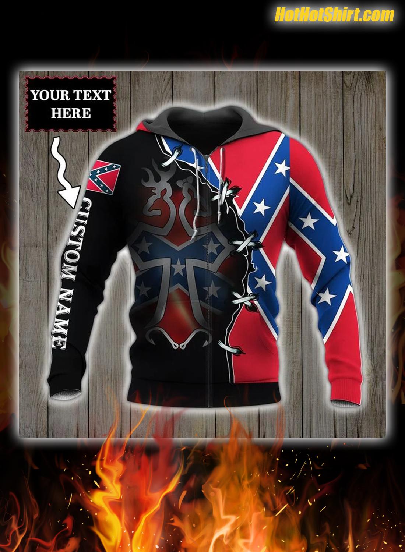 Confederate flag southern deer head Personalized Custom Name 3D Hoodie