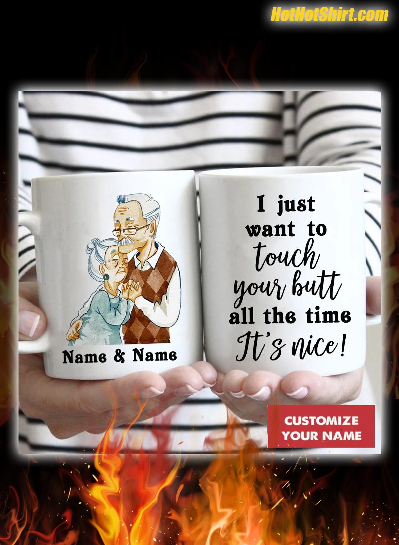 Custom Name Old Couple I Promise To Still Grab Your Butt Mug