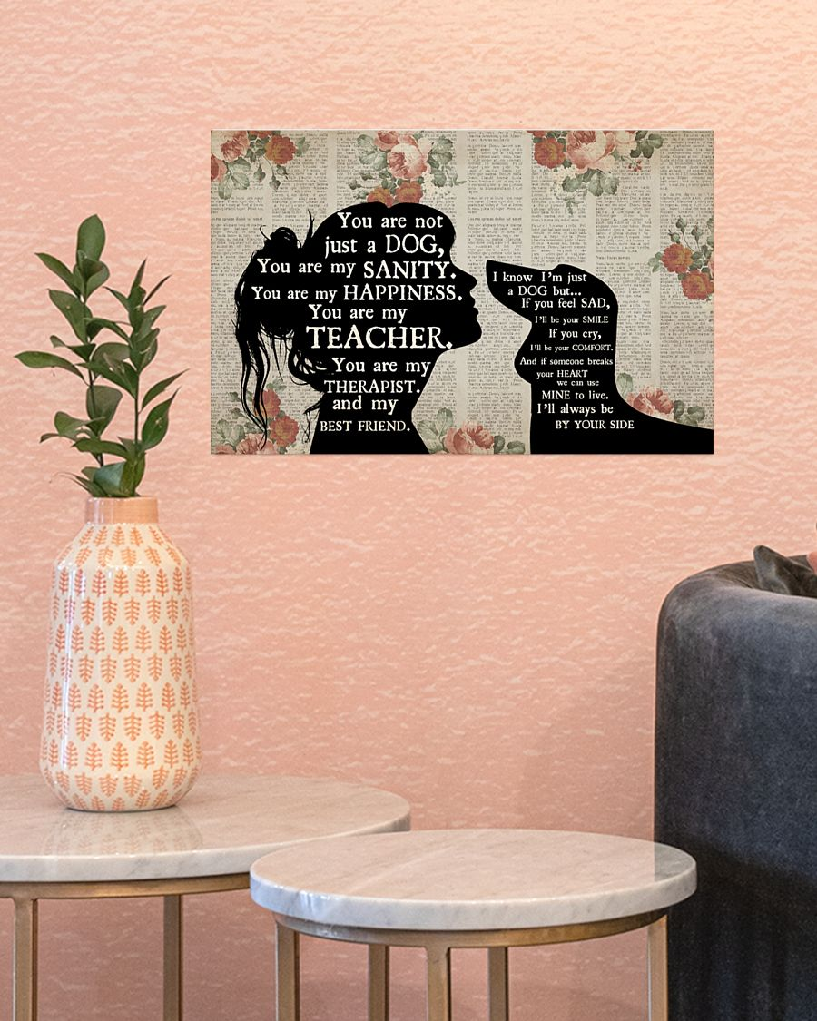 Dachshund and girl therapist you are not just a dog poster