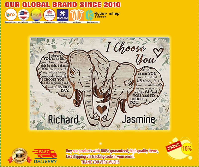 Elephant I choose you custom personalized name poster - LIMITED EDITION BBS