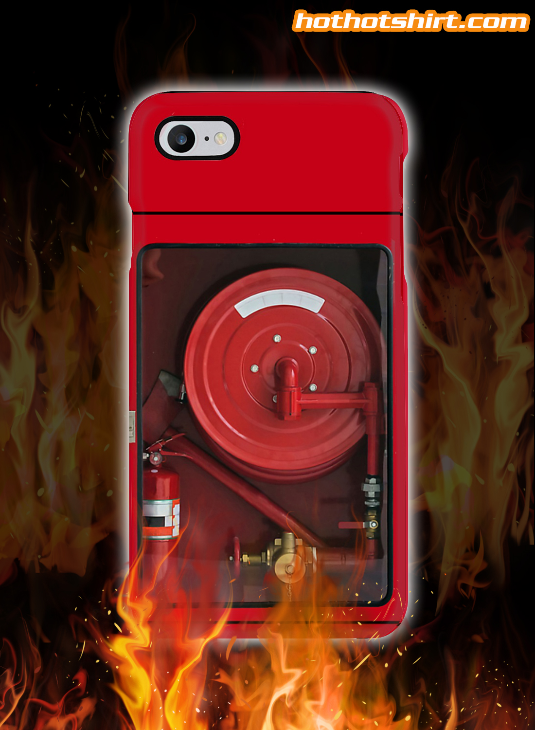 Firefighters hose phone case