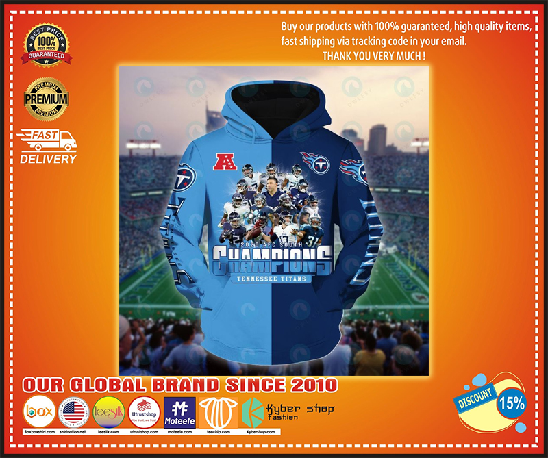 Football 2020 AFC south champions tennessee titans 3d hoodie - LIMITED EDITION