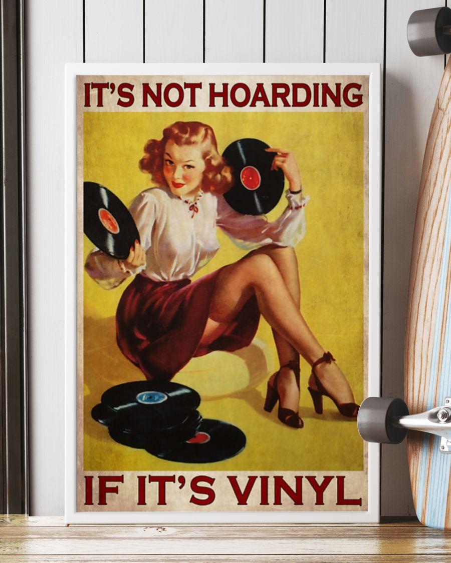Girl It's not hoarding if it's vinyl poster