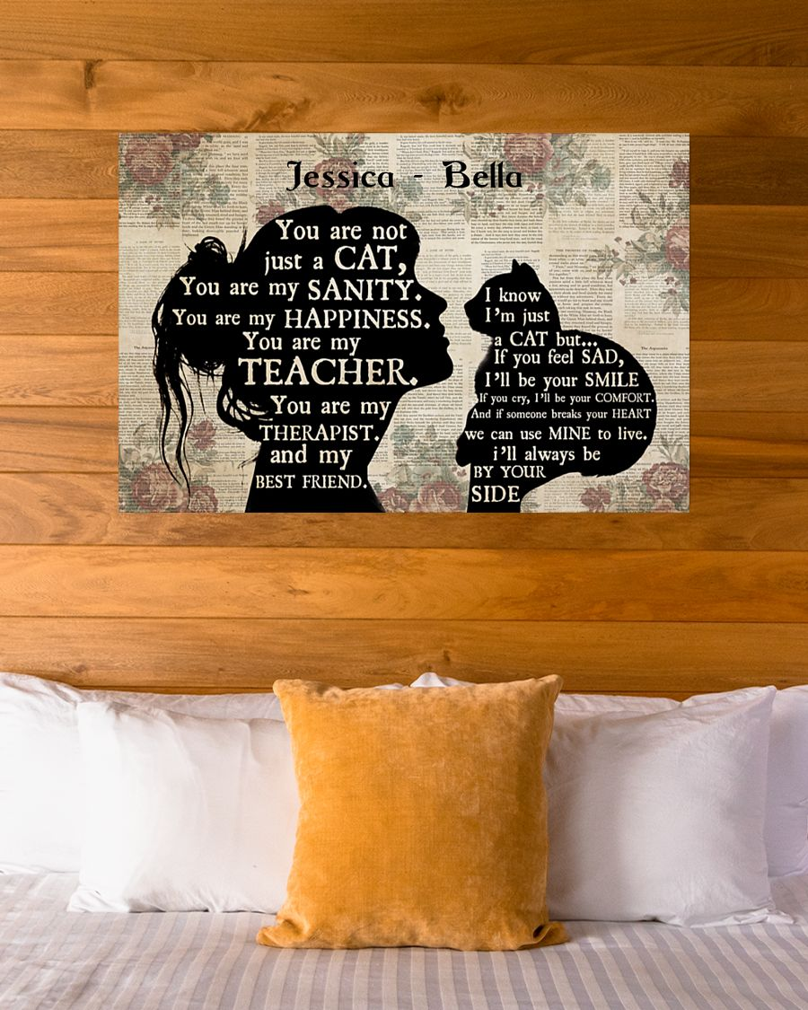 Girl cat sihouette you are not just a cat poster