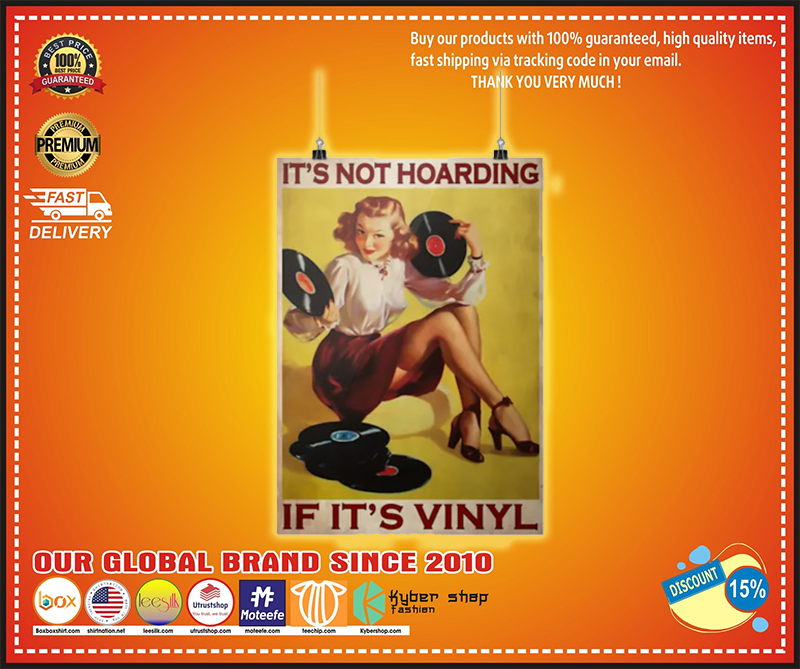 Girl if it's vinyl It's not hoarding poster - LIMITED EDITION BBS