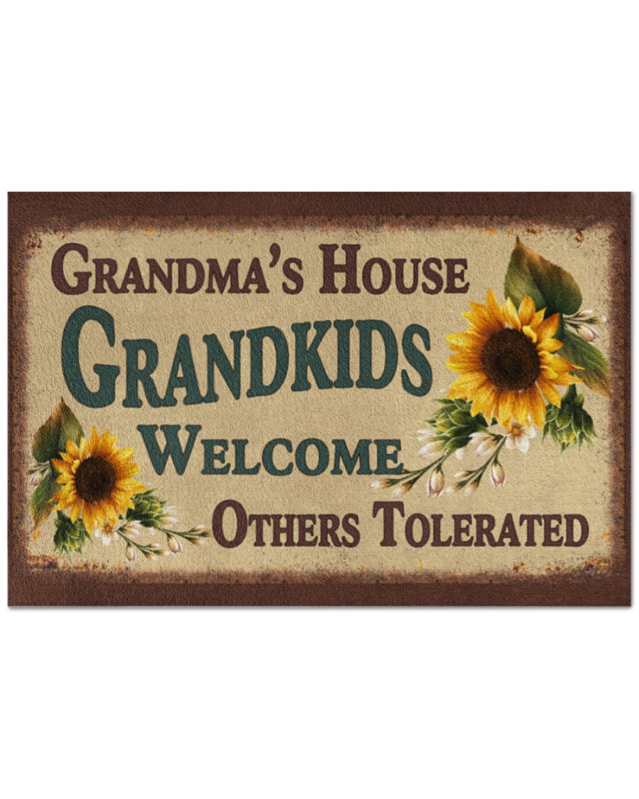 Granma's house grandkids welcome others tolerated doormat
