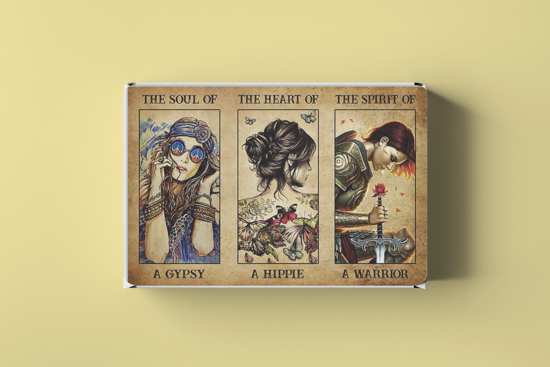 Hippie warrior girl The soul of a gypsy the heart of a hippie the spirit of a warrior poster