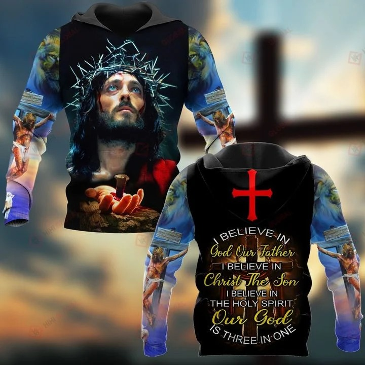 I believe in god our father i believe in christ the son 3D T-shirt 2