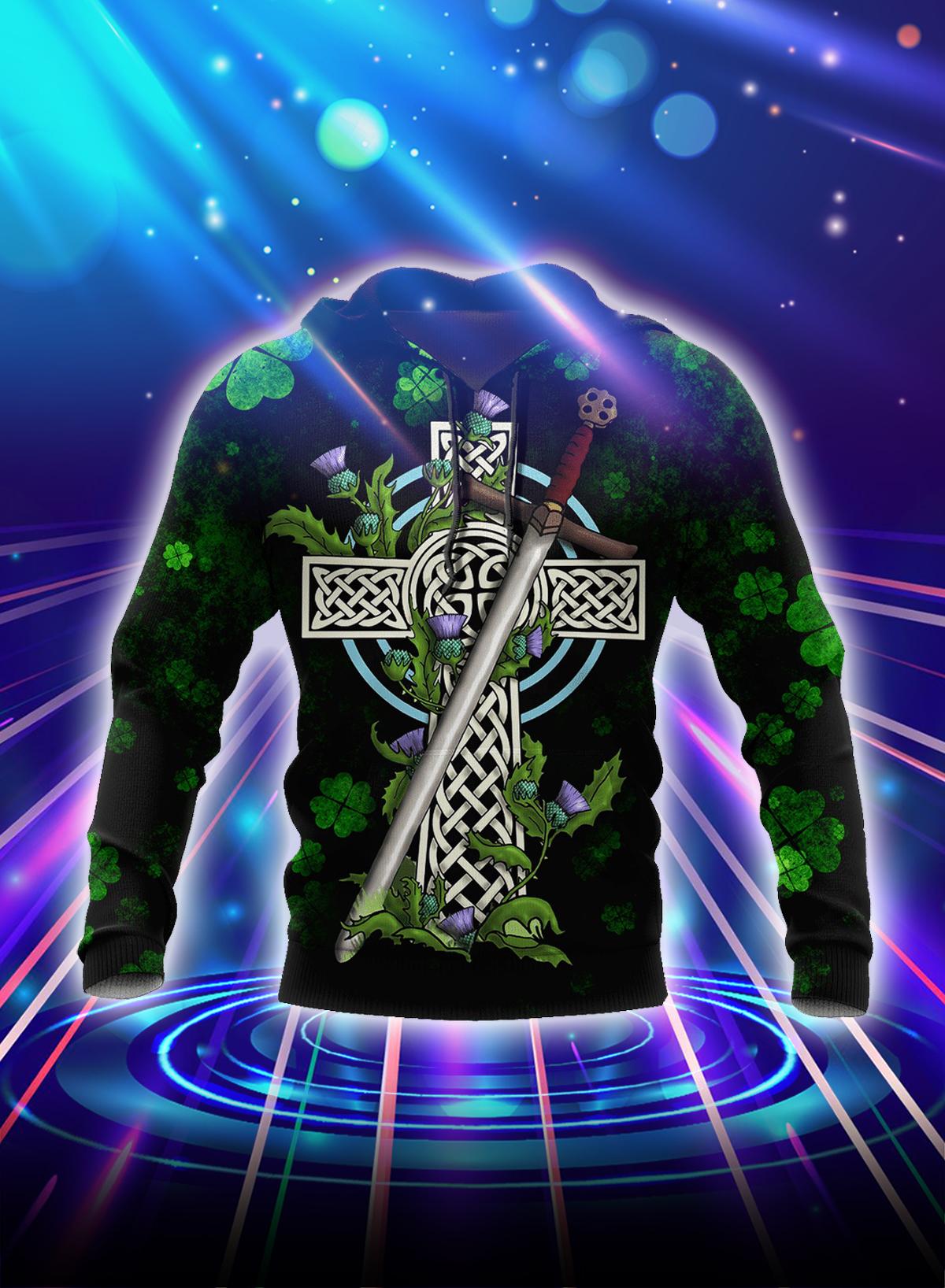 Irish St Patrick day 3d hoodie