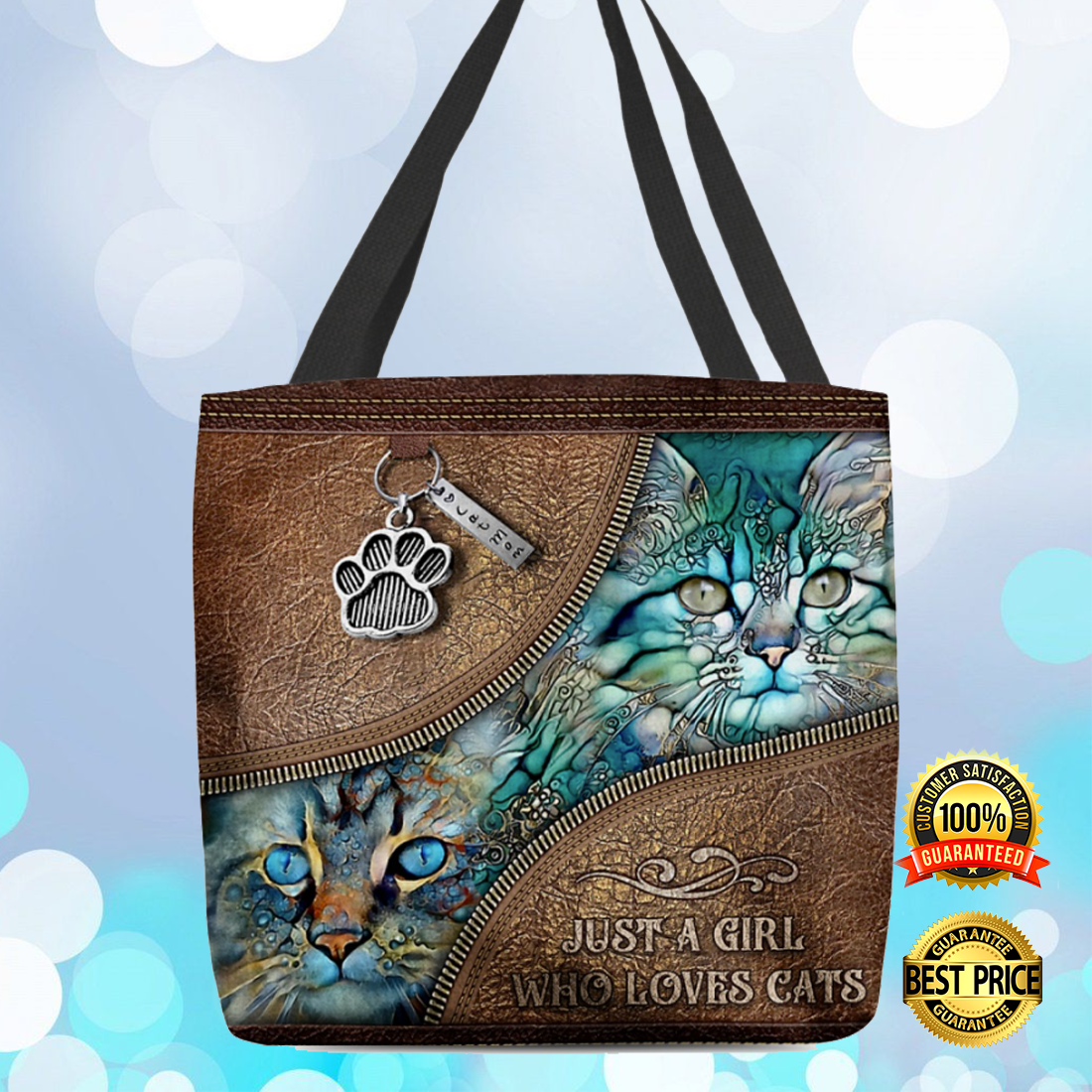 JUST A GIRL WHO LOVES CATS TOTE BAG