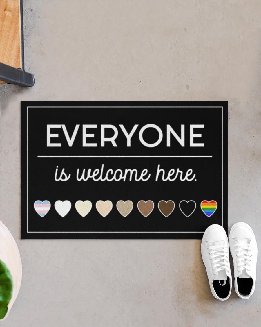 LGBT Everyone is welcome here doormat