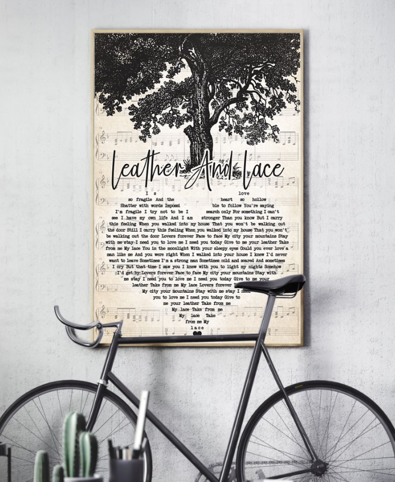 [Hot] Leather And Lace Heart Song Lyric Poster