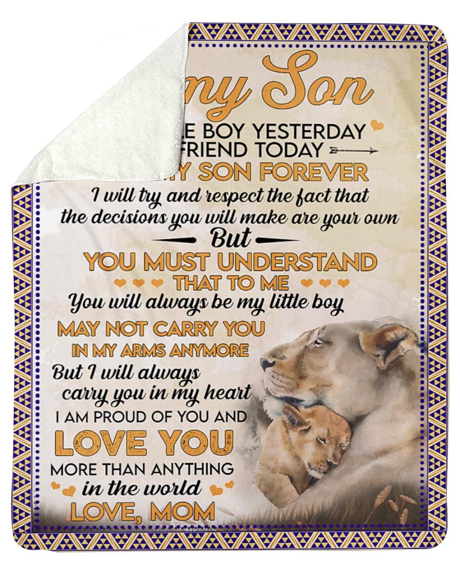 Lion to my son my little boy yesterday blanket
