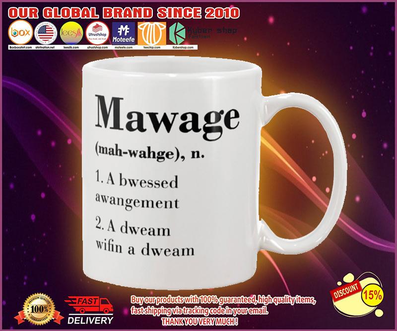 Mawage a bwessed awangement mug