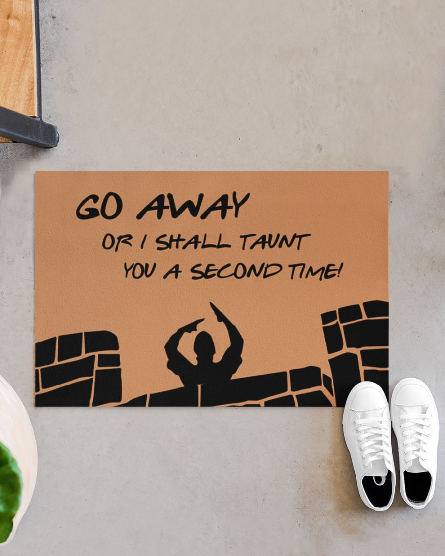 Monty Python and The Holy Grail Go away or I shall taunt you a second time doormat
