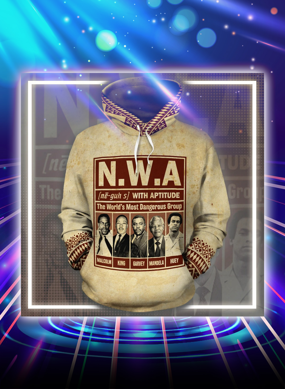 NWA the world's most dangerous group all over printed hoodie