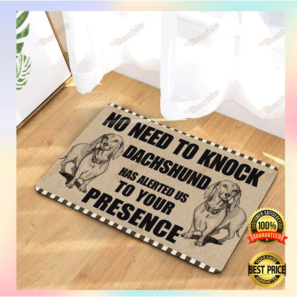 [WOW] NO NEED TO KNOCK DACHSHUND HAS ALERTED US TO YOUR PRESENCE DOORMAT