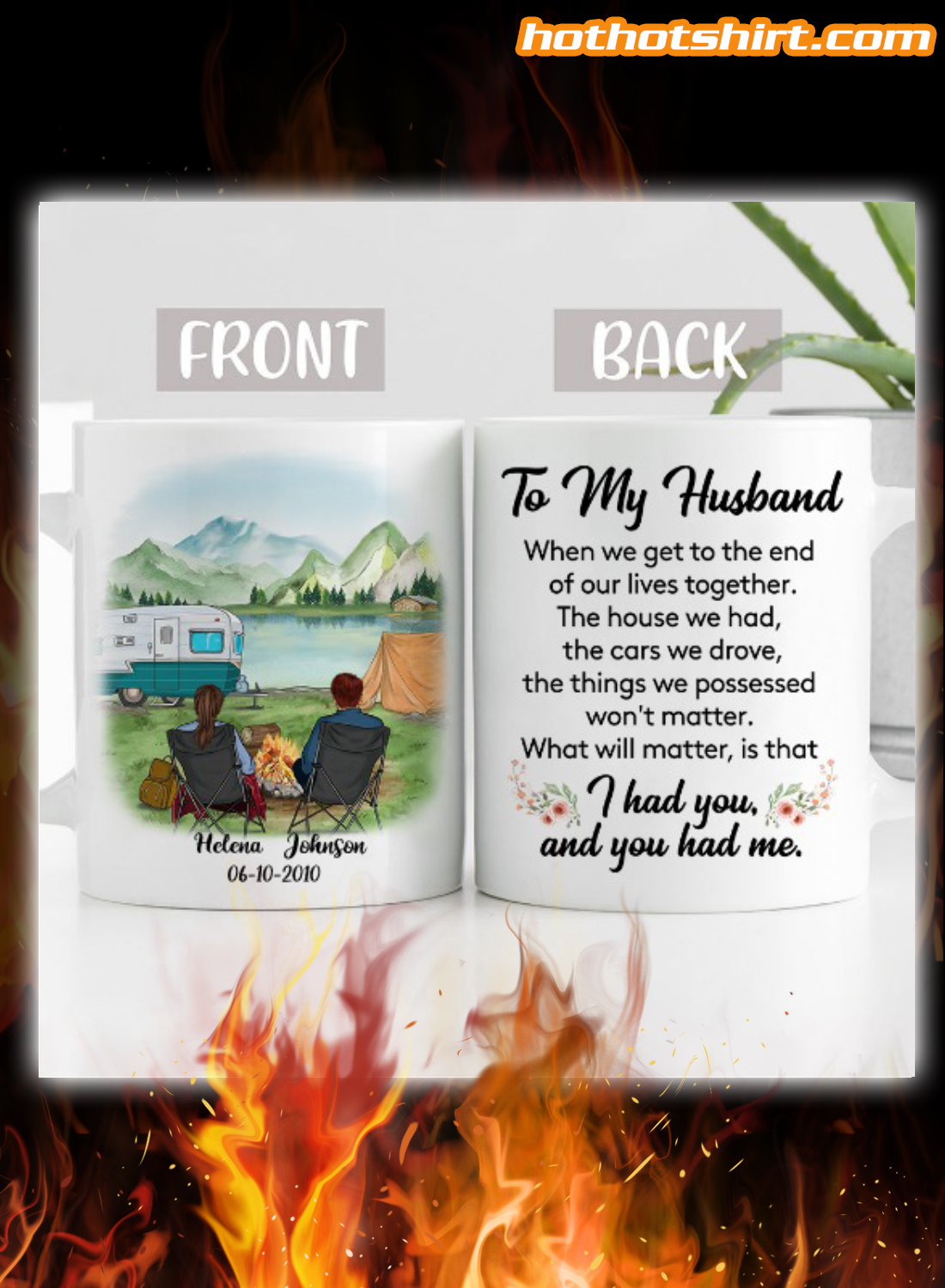 Personalized Camping to my husband i had you and you had me mug