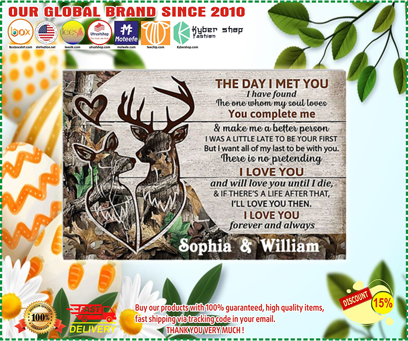 Personalized Deer The day I met you custom name poster - LIMITED EDITION BBS