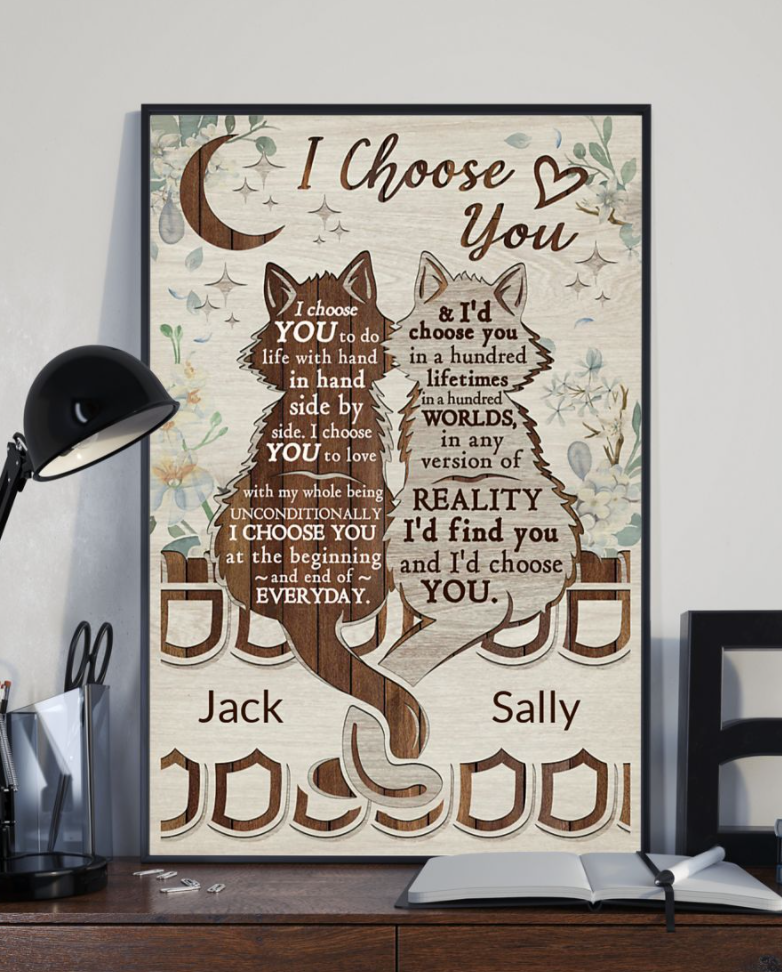 Personalized Cat I Choose You Poster 6