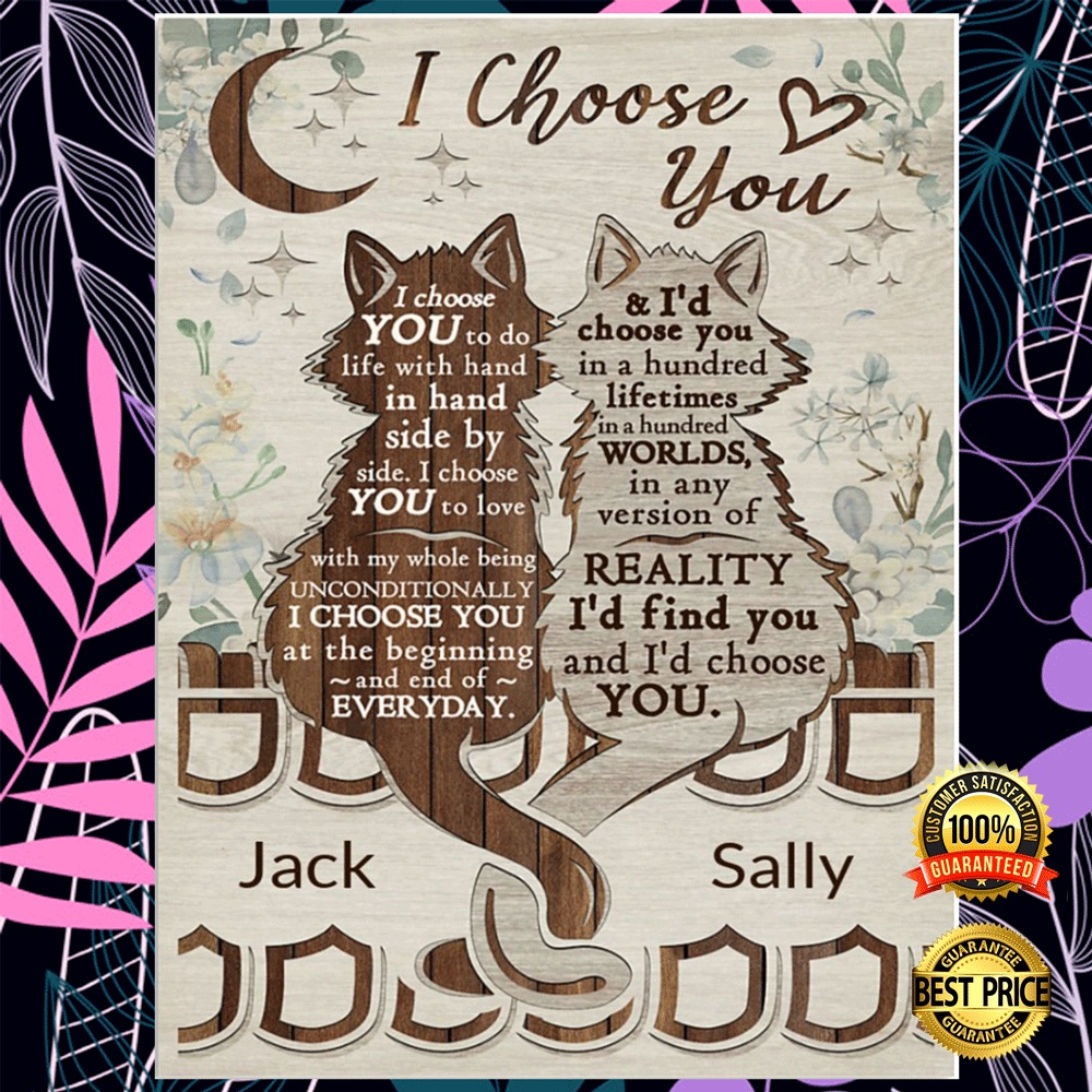 Personalized Cat I Choose You Poster 5