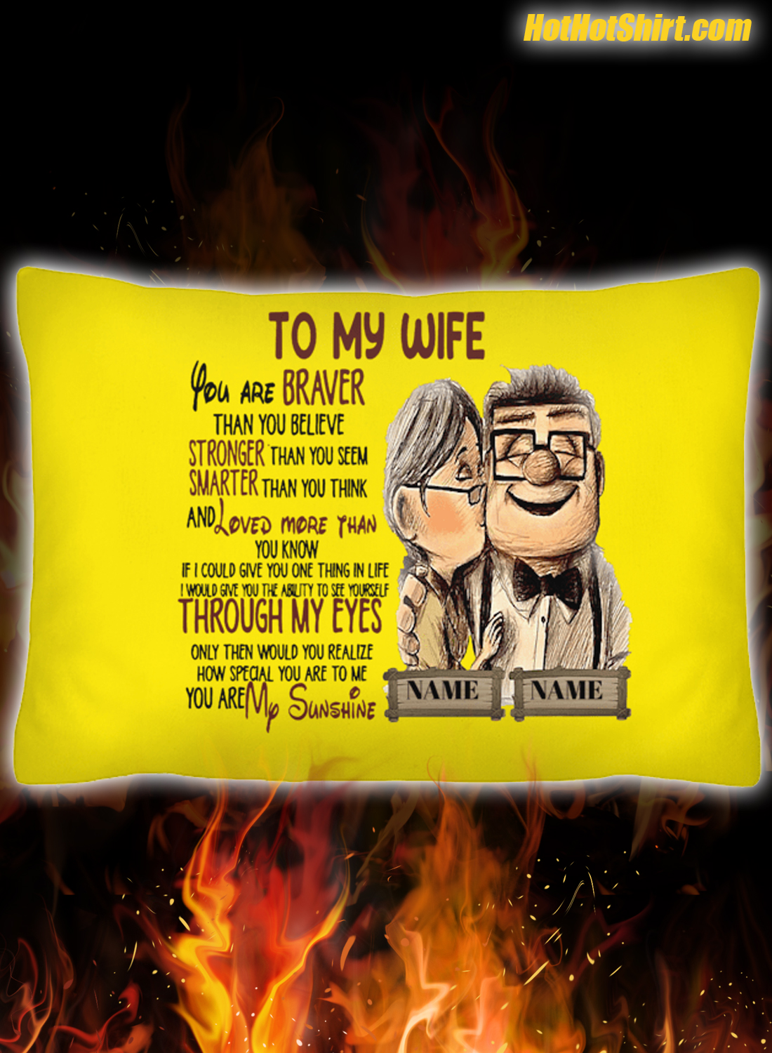 Personalized custom name Carl and Ellie To My Wife Pillowcase 3