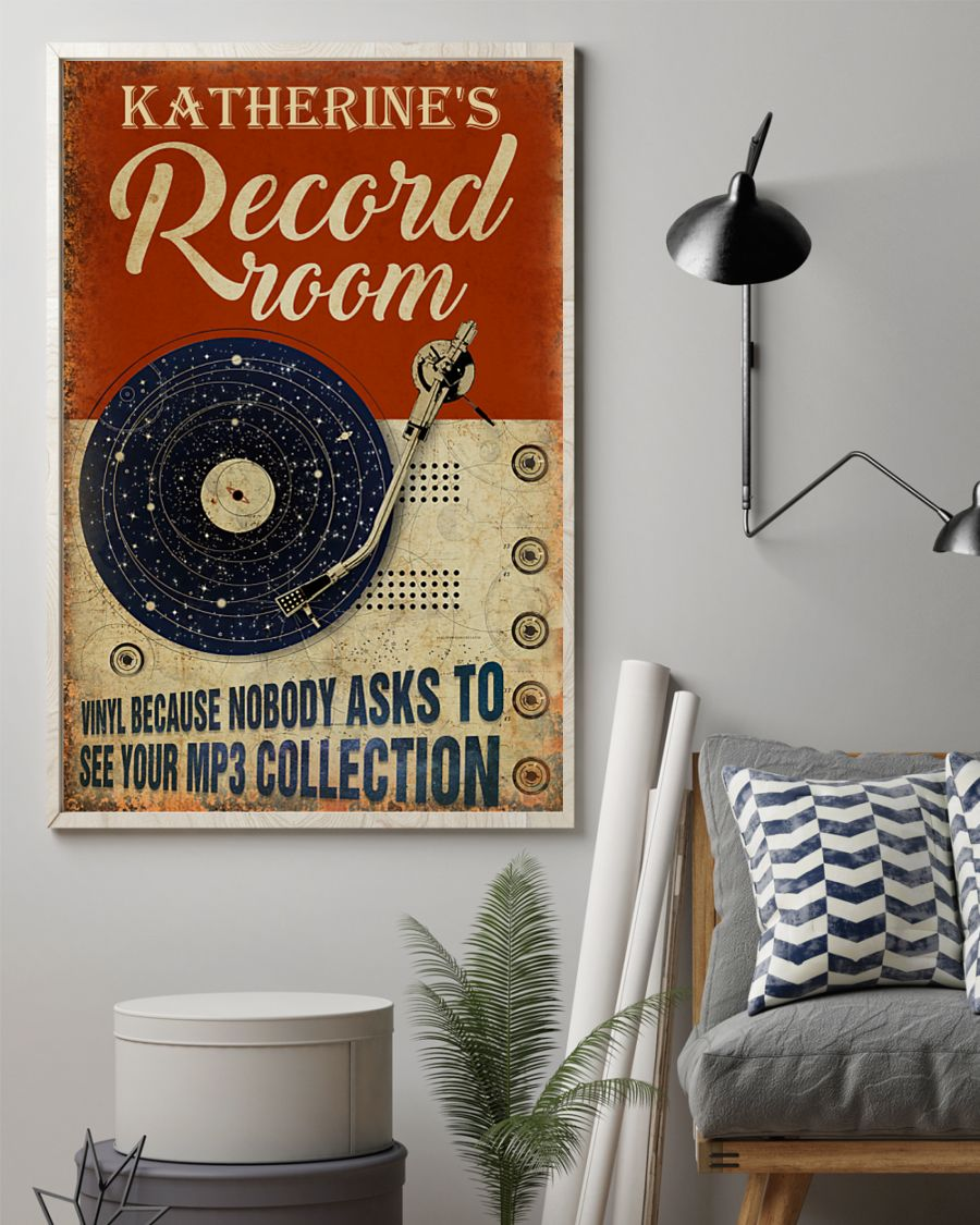 Record room vinyl because nobody asks to see your mp3 collection poster