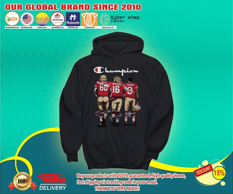 San Francisco 49er Champion rice montana young shirt