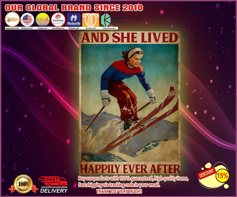 She lived happily ever skiing poster