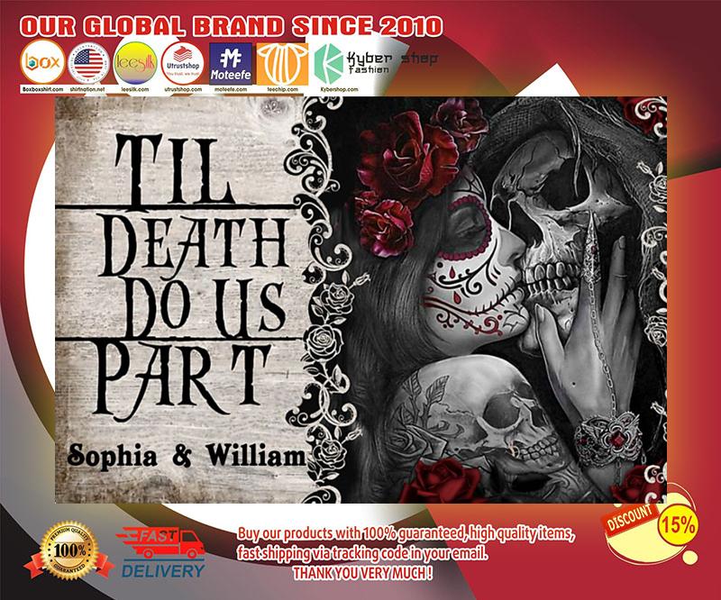 Skeleton til death do us part poster