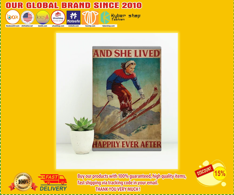 Skiing and she lived happily ever after poster - LIMITED EDITION BBS