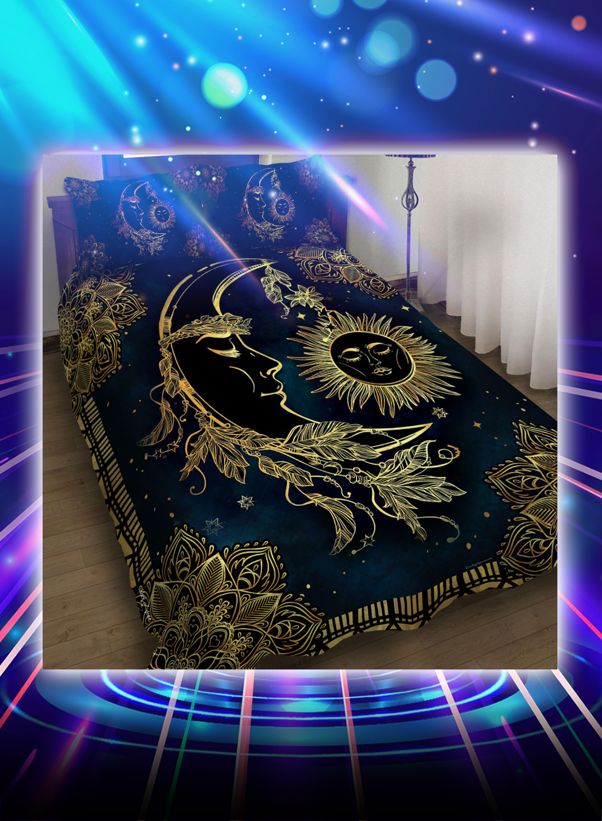 Sun and moon mandala bed set - Picture 1