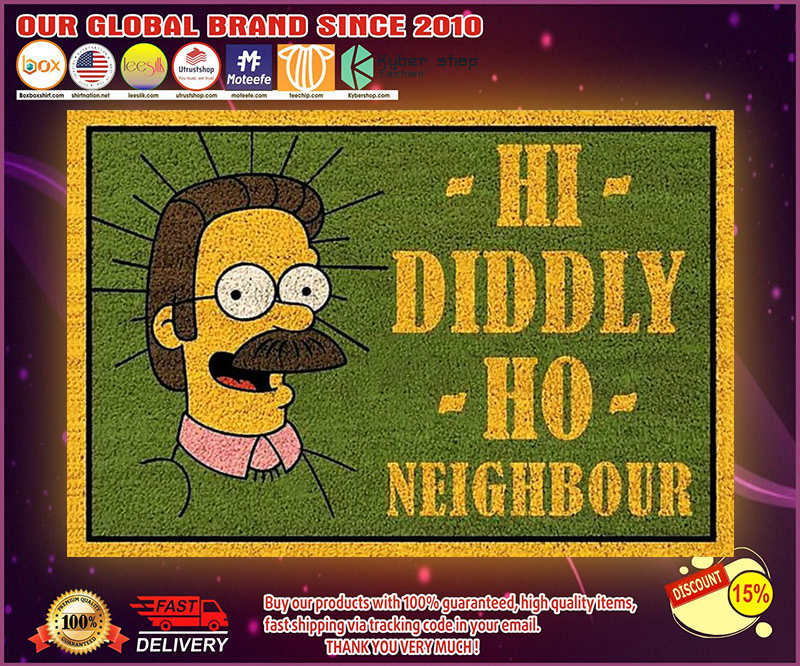 The simpsons hi diddly ho nighbour poster