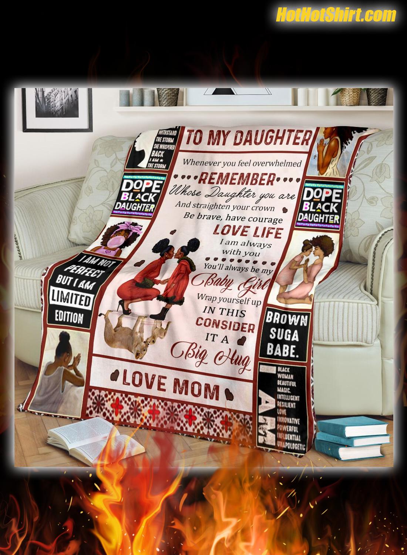 To my daughter black girl love mom blanket 2