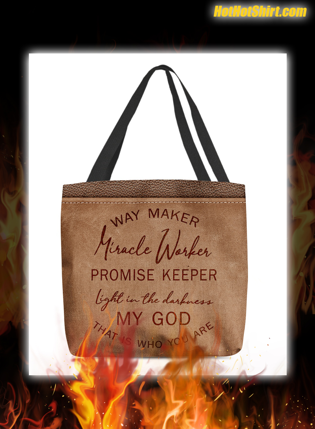 Way maker miracle worker promise keeper tote bag