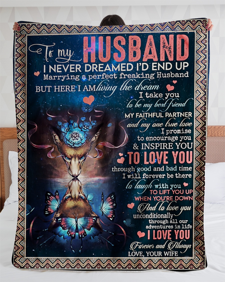 Wolf to my husband I never dreamed i'd end up blanket