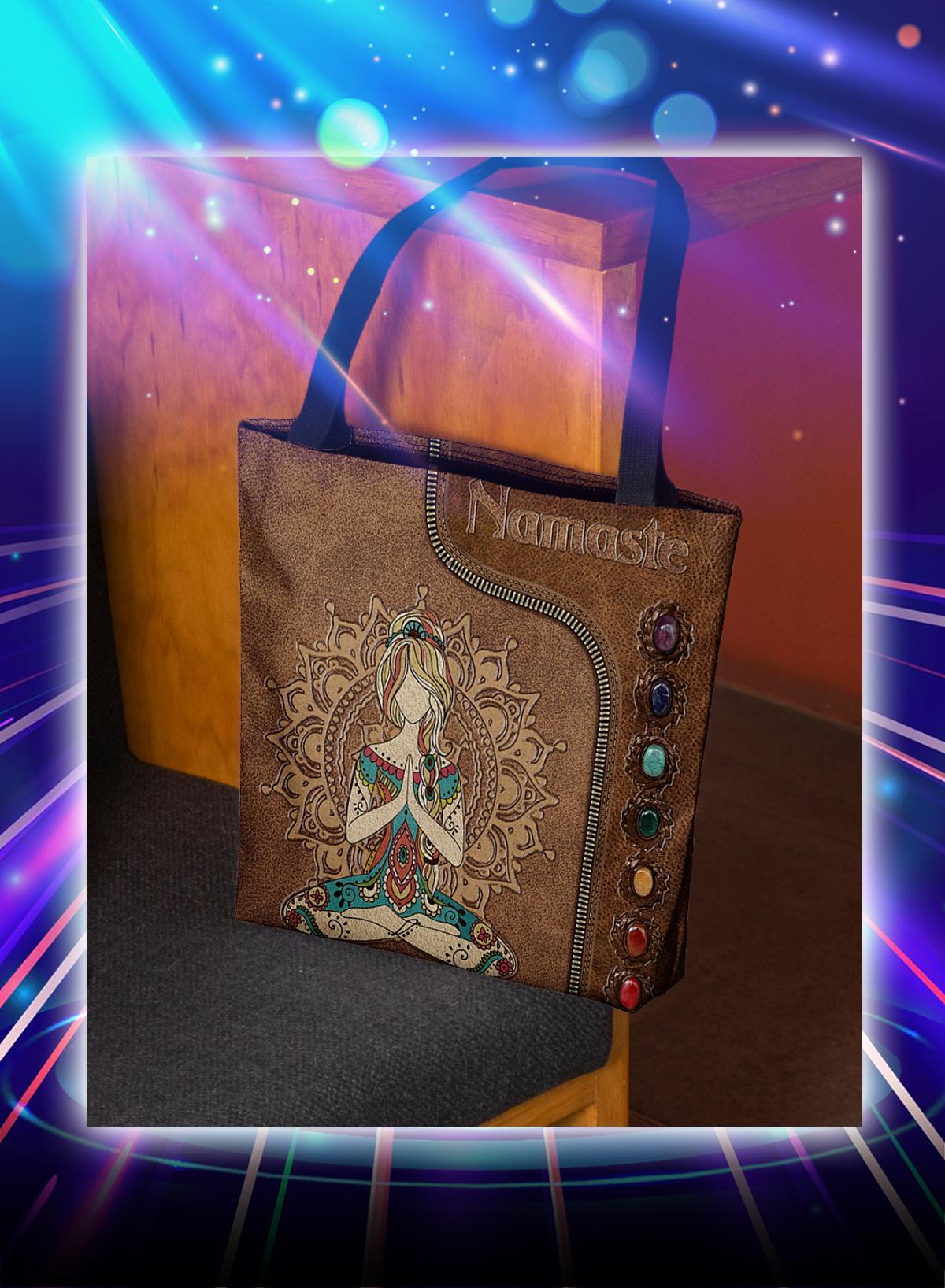 Yoga girl namaste tote bag - Picture 1