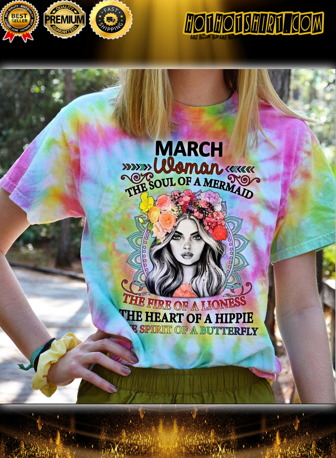 Hippie March Woman The Soul Of A Mermaid 3D All Over Printed Shirt