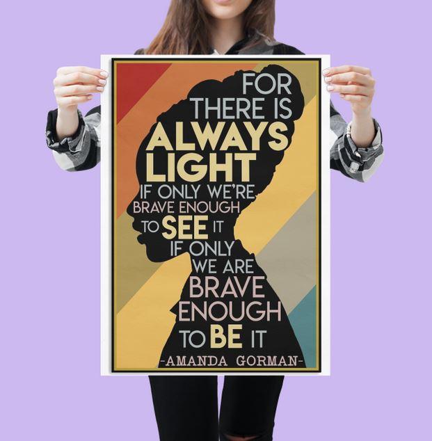 [LIMITED EDITION] Amanda gorman Hill we climb poster