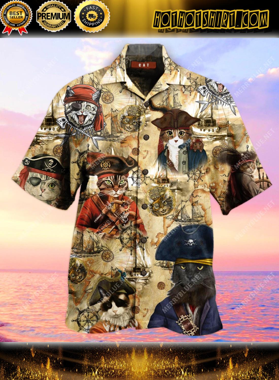 Amazing Pirate Cat Unisex Hawaiian Shirt 1