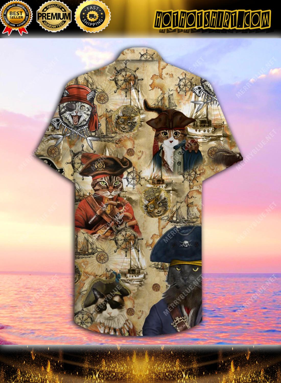 Amazing Pirate Cat Unisex Hawaiian Shirt 2
