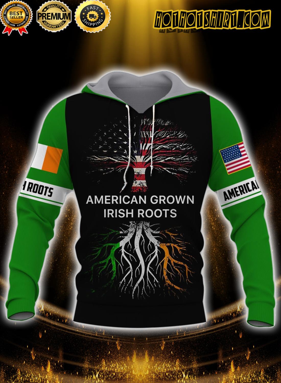 American grown irish roots 3d all over printed hoodie