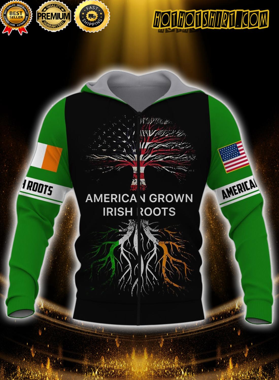 American grown irish roots 3d all over printed zip hoodie