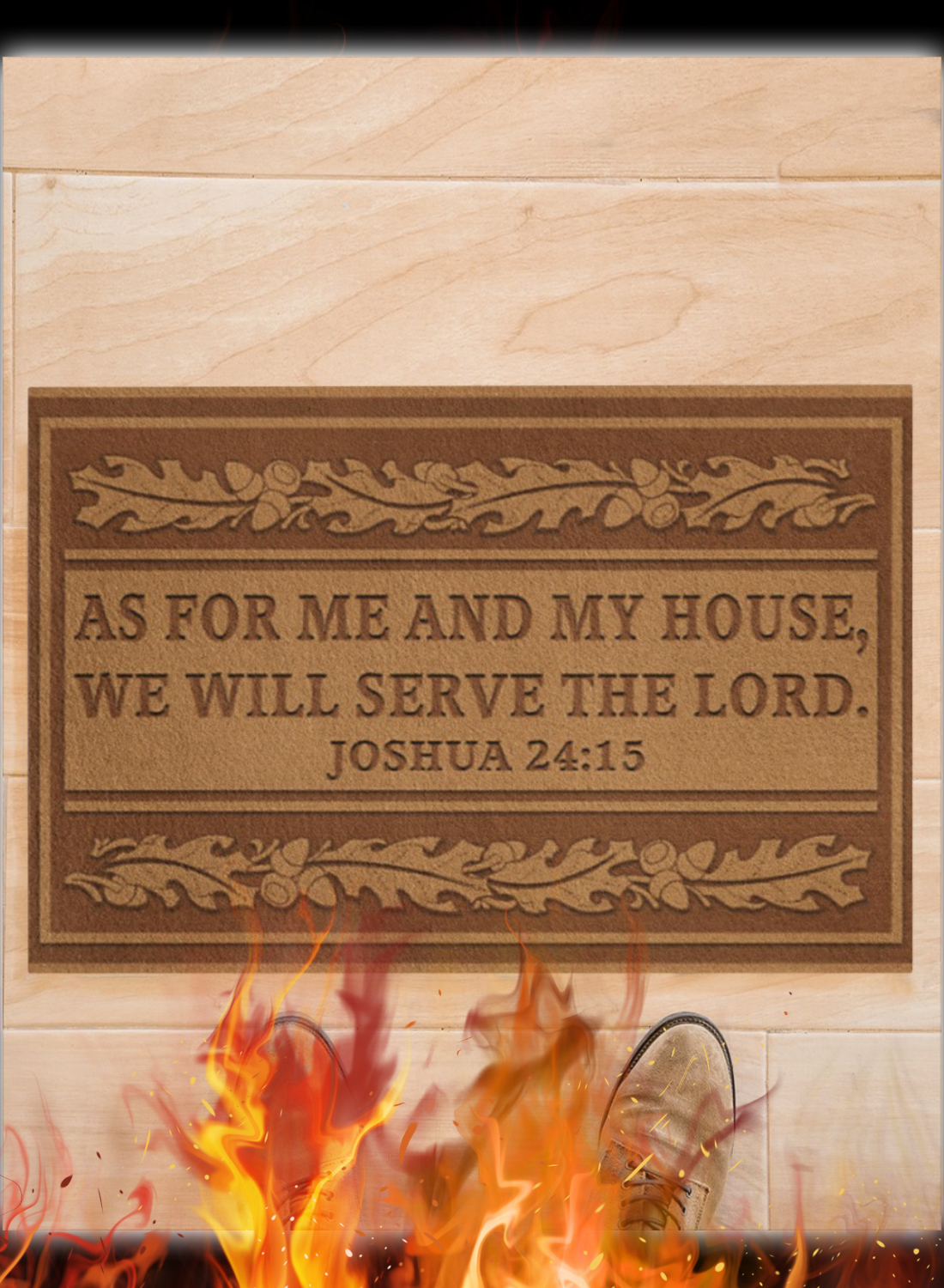 As For Me And My House We Will Serve The Lord Joshua 24 15 Doormat