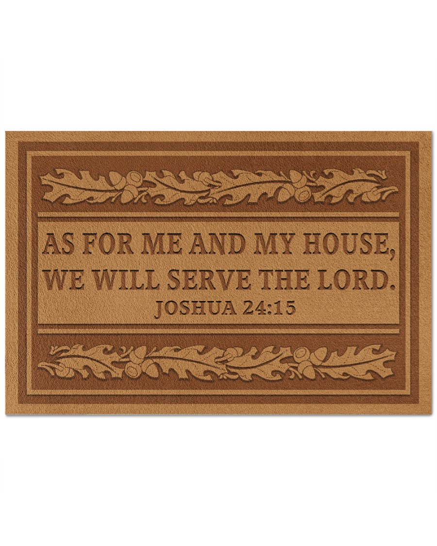 [LIMITED EDITION] As for me and my house we will serve the lord doormat