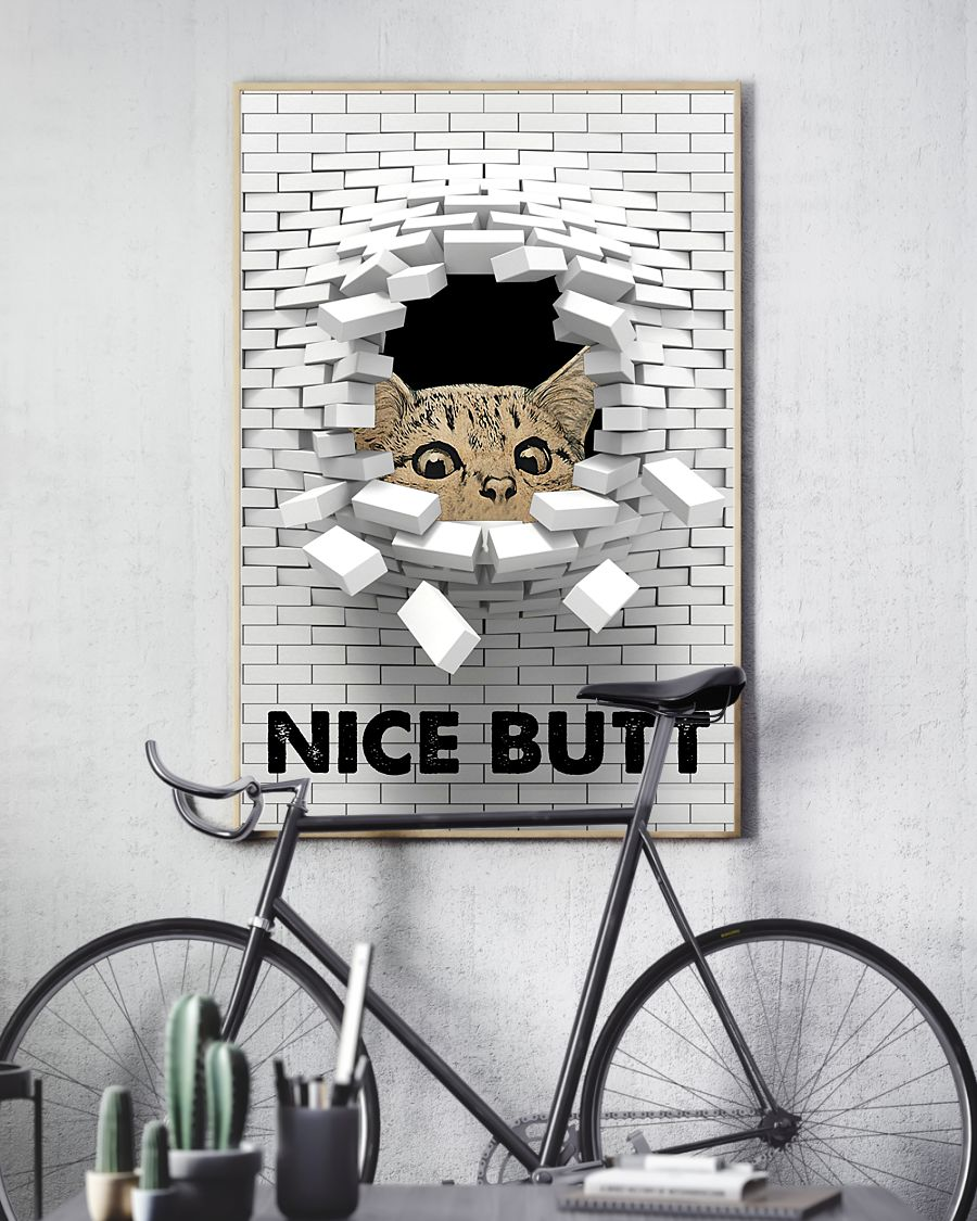 [LIMITED EDITION] Cat nice butt 3d wall poster