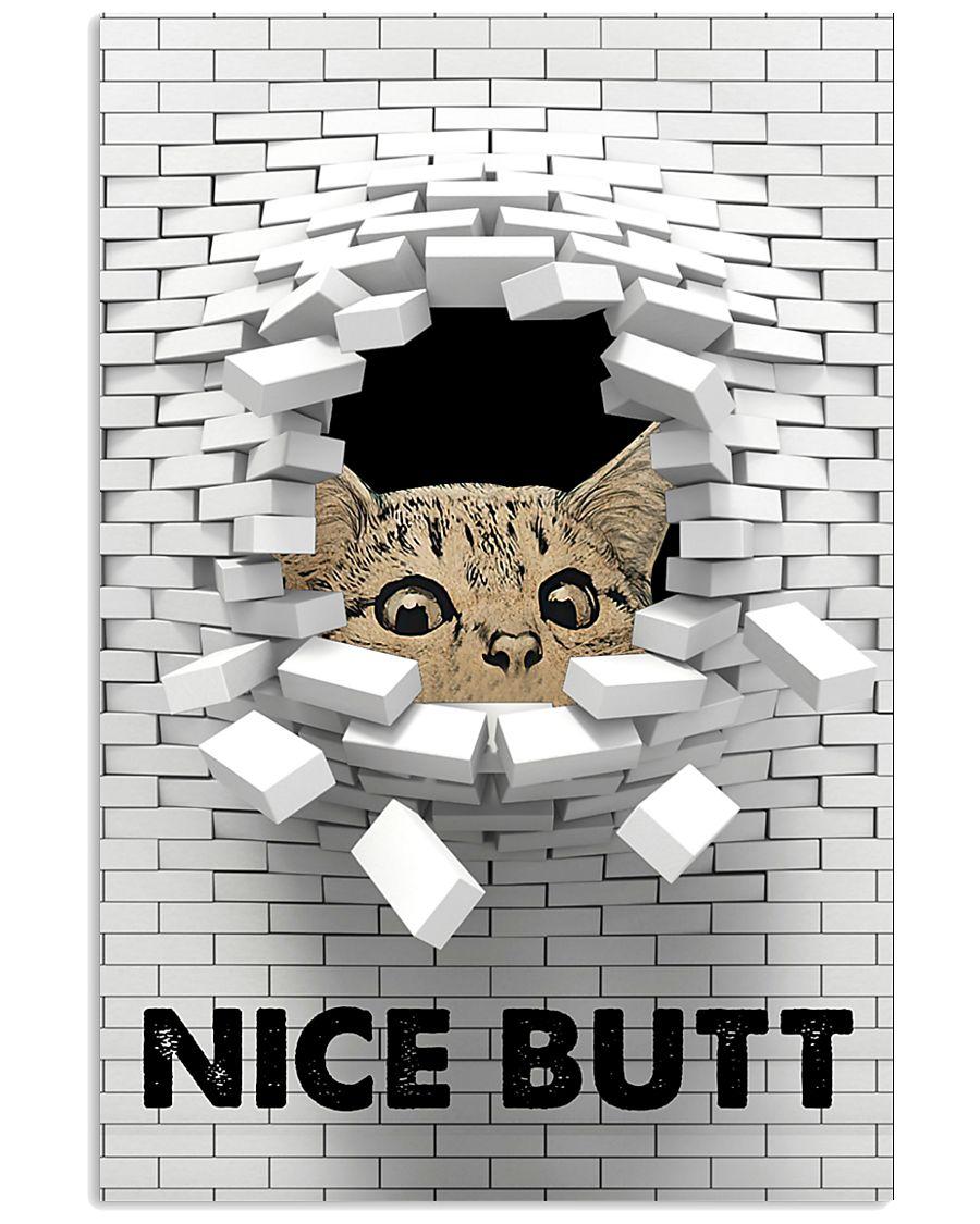 Cat nice butt 3d wall poster