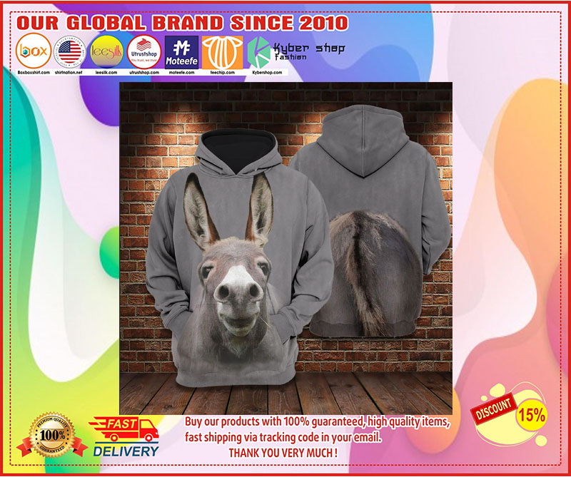 [LIMITED EDITION] Cute donkey 3D hoodie