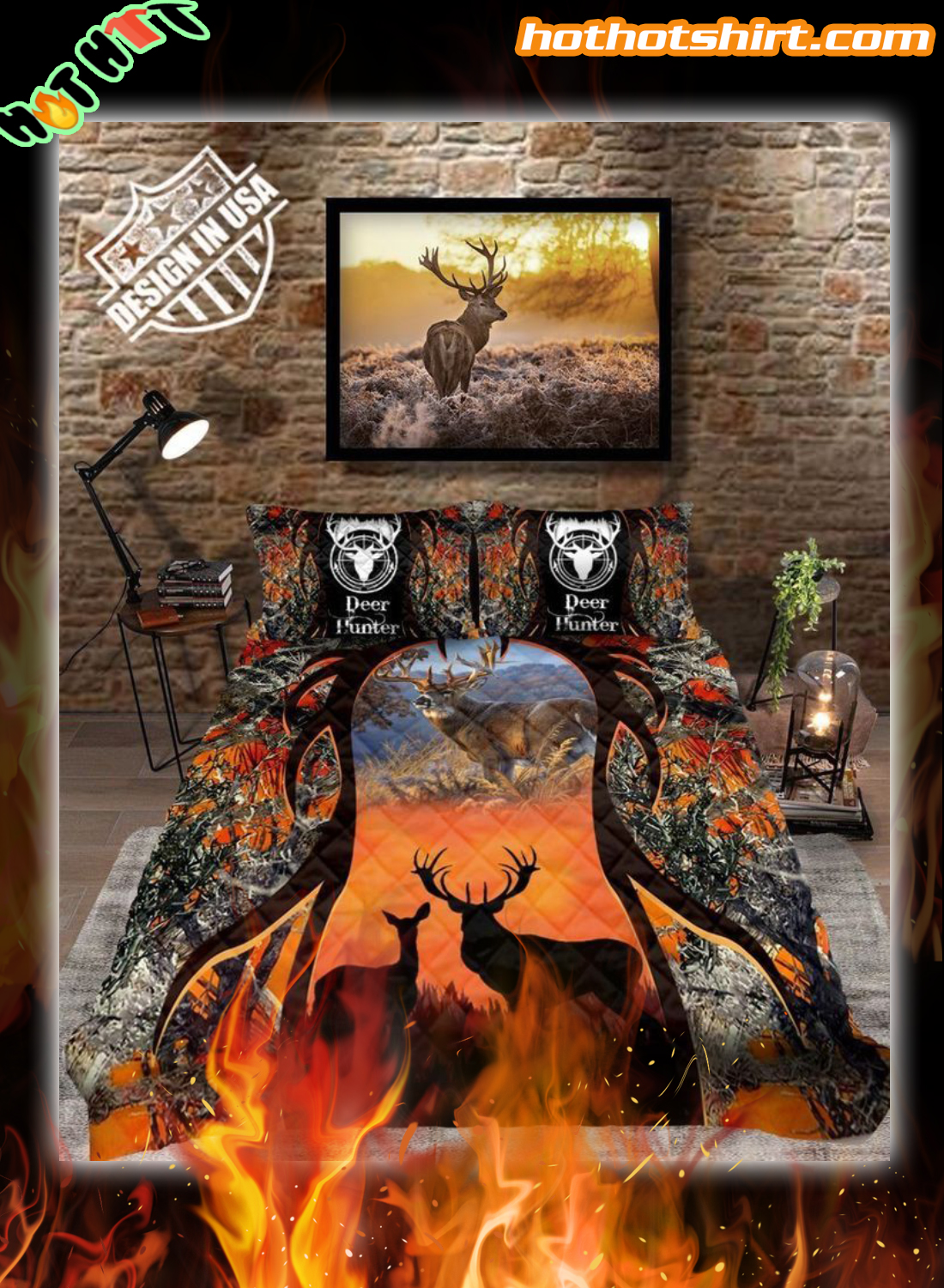Deer hunting bedding set
