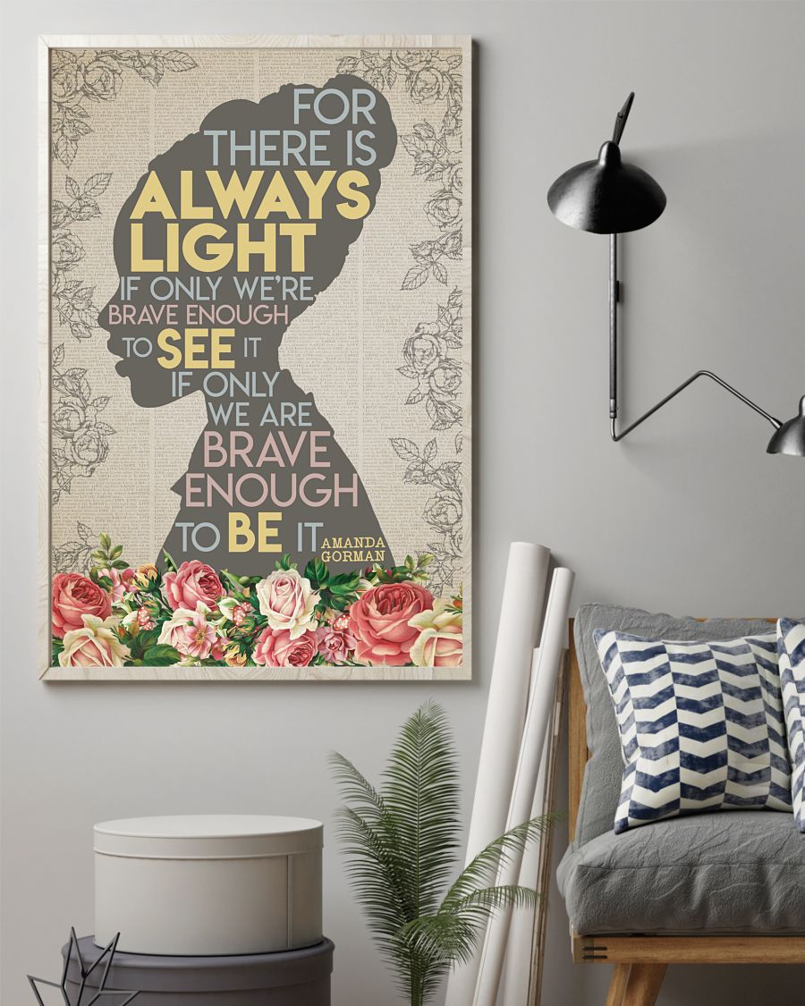 For there is always light Amanda Gorman poster